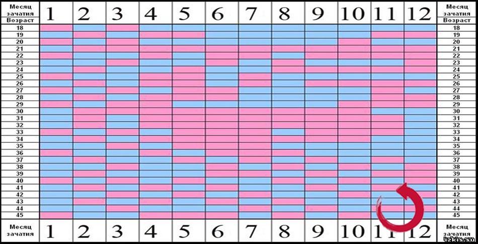 Правильный китайский календарь для зачатия девочки