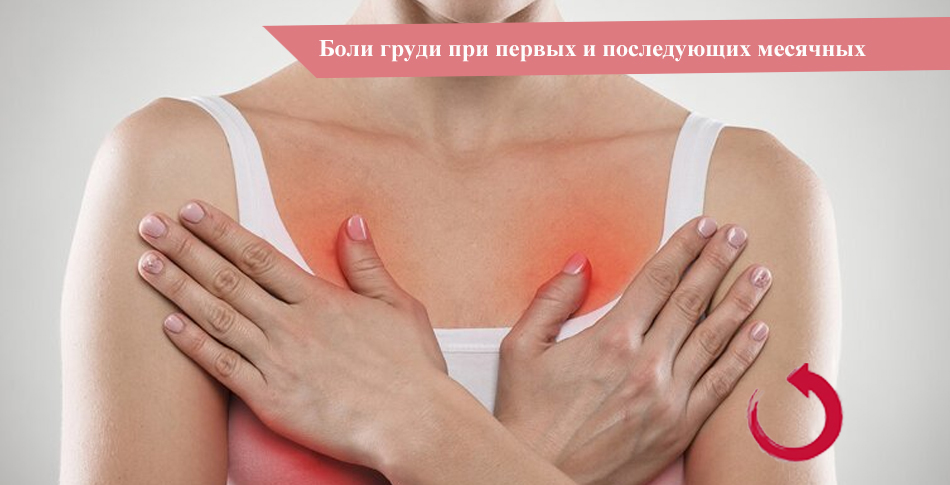 Боли груди при первых месячных